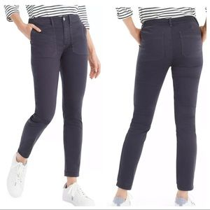 J.Crew Gray Cargo Toothpick Mid Rise Ankle Pant 27